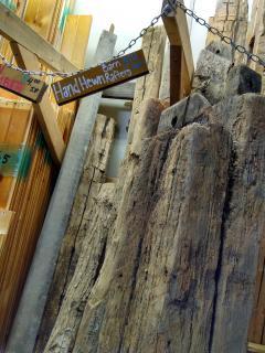 old lumber at WasteCap